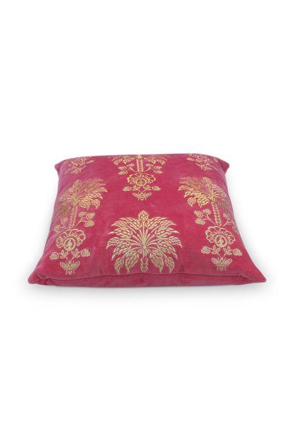 cushion-dark-pink-flowers-square-cushion-decorative-palmtree-pip-studio-45x45-cotton