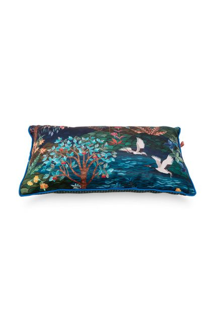 Cushion-botanical-blue-rectangle-pip-garden-50x30-cm
