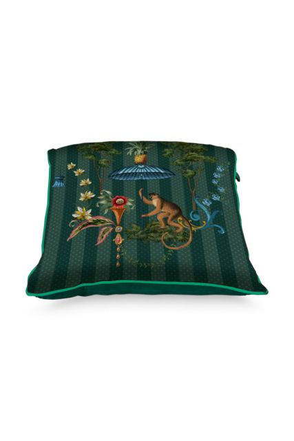 Kussen-botanisch-groen-vierkant-singerie-40x40-cm