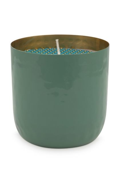 metal-candle-green-blushing-birds-golden-details-pip-studio-9-cm
