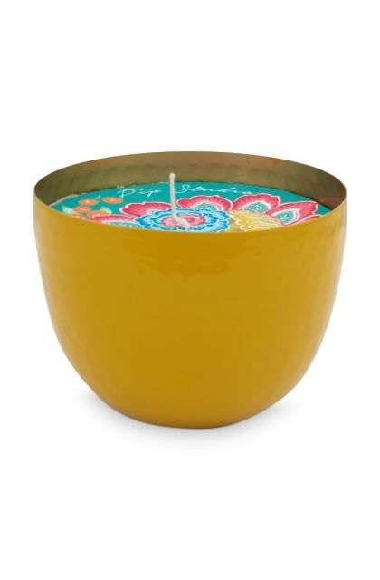 metal-candle-yellow-blushing-birds-golden-details-pip-studio-11-cm