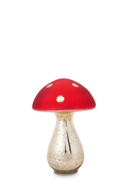 Pilz-decoration-rot-glas-pip-studio-24-cm