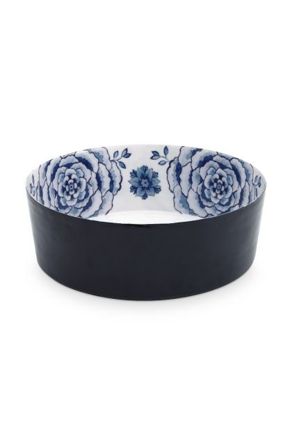 metal-bowl-white-dark-blue-roses-royal-white-pip-studio-26,5-cm
