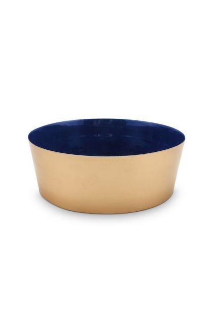 metaal-schaal-donker-blauw-rozen-royal-white-pip-studio-19,5-cm