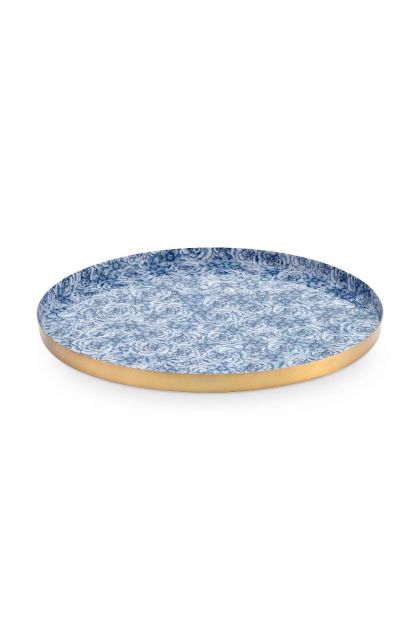 metal-plate-white-dark-blue-roses-royal-white-pip-studio-19,5-cm