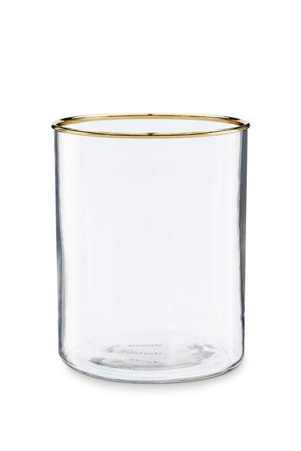 Glas-waxinelichthouder-gouden-rand-woon-decoratie-pip-studio-12,5x16-cm