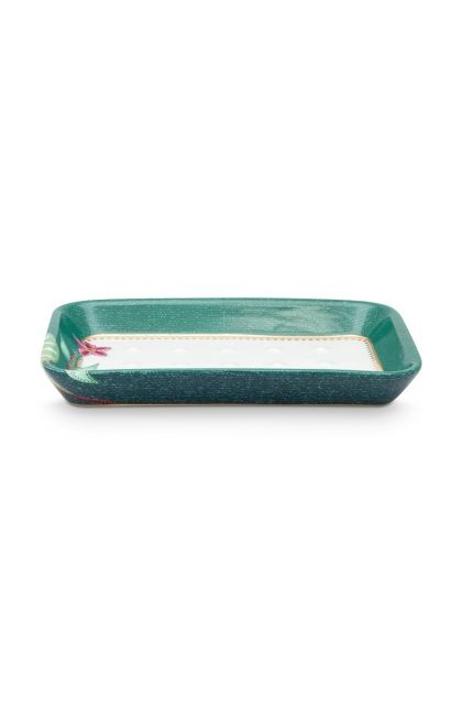 Soap Dish Jambo Flower Green