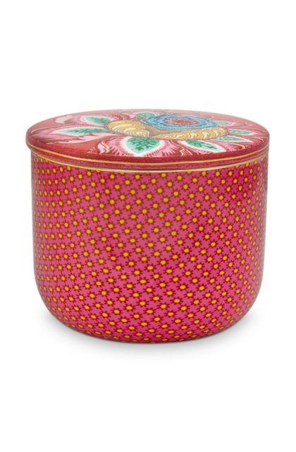 Badkamer-accesoires-cotton-ball-jar-roze-twinkle-star-pip-studio-27x12x1,5