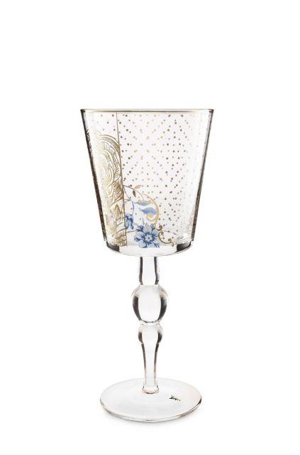 Royal Golden Flower wine glass high