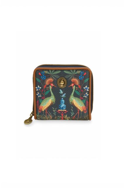 Wallet-square-dark-blue-flirting-birds-pip-studio-11,5x11,5x2,5-cm