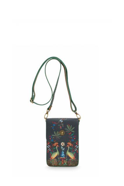 Phone-bag-dark-blue-flirting-birds-pip-studio-11x18x1-cm