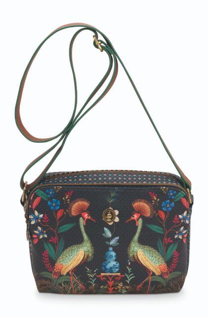 Cross-body-donker-blauw-flirting-birds-pip-studio-23,5x18x7,5-cm