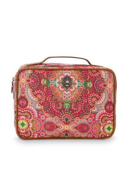 Beautycase-rood-bohemian-square-large-moon-delight-pip-studio-27x19x10