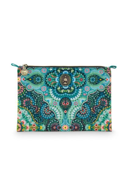 Cosmetic-flat-pouch-medium-blue-floral-moon-delight-pip-studio-19.5x13x1cm-PU