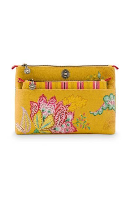 Cosmetic-bag-yellow-floral -jambo-flower-pip-studio-24/17x16,5x8-PU