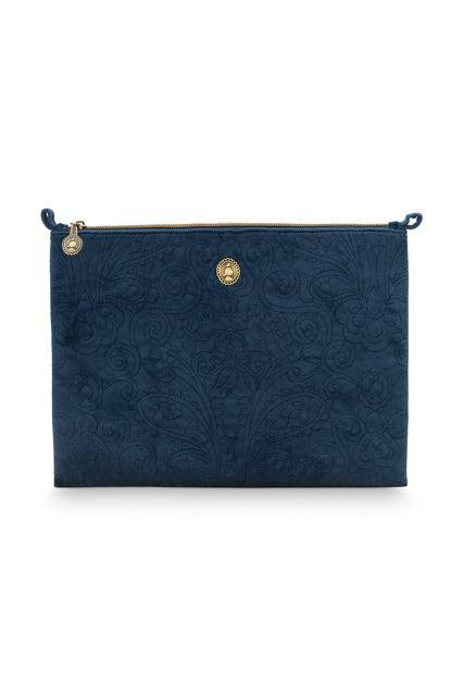 Kosmetic-tasche-gross-dunkel-blau-quilted-pip-studio-30x22x1-cm