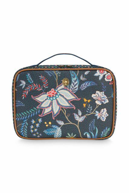 Beauty-case-bloemen-donker-blauw-groot-flower-festival-pip-studio-27x19x10-cm