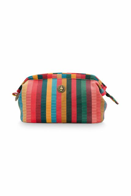 Kosmetic-tasche-gestreift-velvet-multi-colour-klein-jacquard-stripe-pip-studio-19x12x8,5-cm
