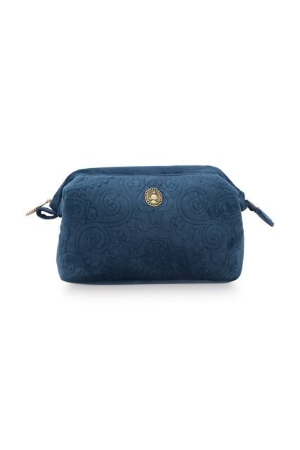 Cosmetic-purse-small-dark-blue-quilted-pip-studio-19x12x8,5-cm