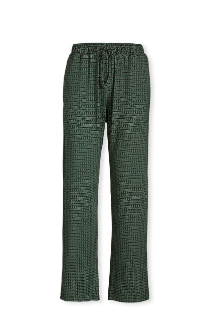 Trousers Long Folk Stitch Green