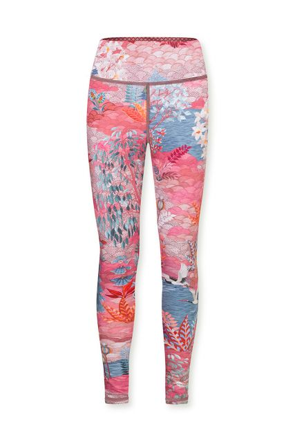 Sport-leggings-trousers-long-botanical-print-pink-pip-garden-pip-studio-xs-s-m-l-xl-xxl