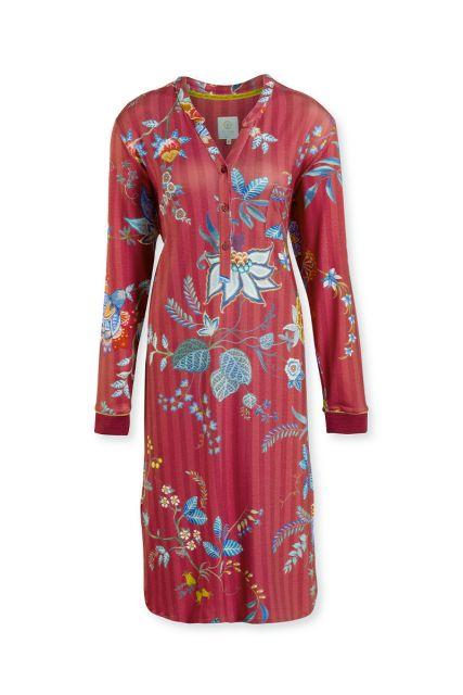 Night-dress-long-sleeve-floral-print-pink-flower-festival-pip-studio-xs-s-m-l-xl-xxl