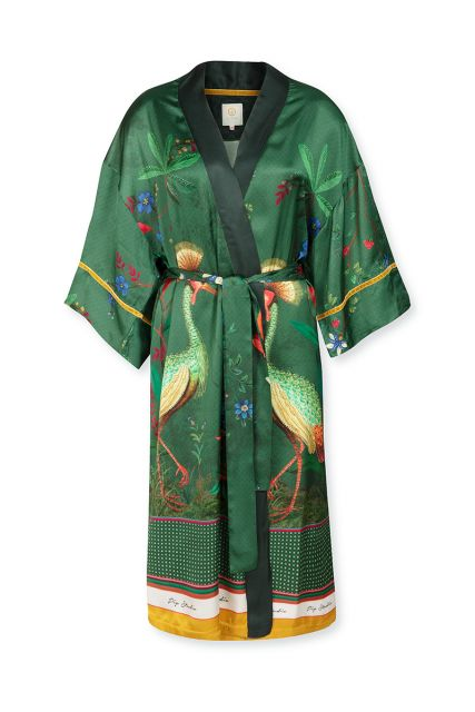 Kimono-korte-mouwen-botanische-print-groen-birds-in-love-pip-studio-xs-s-m-l-xl-xxl
