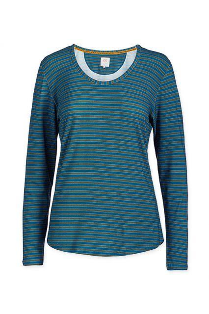 top-langen-ärmeln-fushion-stripe-blau