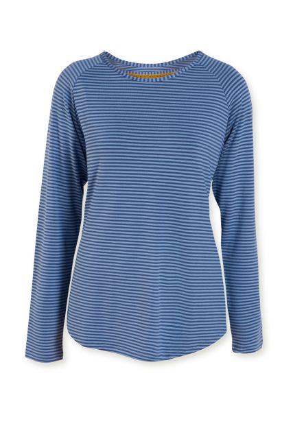 Top-lange-mouwen-gestreept-print-blauw-tonal-stripe-pip-studio-xs-s-m-l-xl-xxl