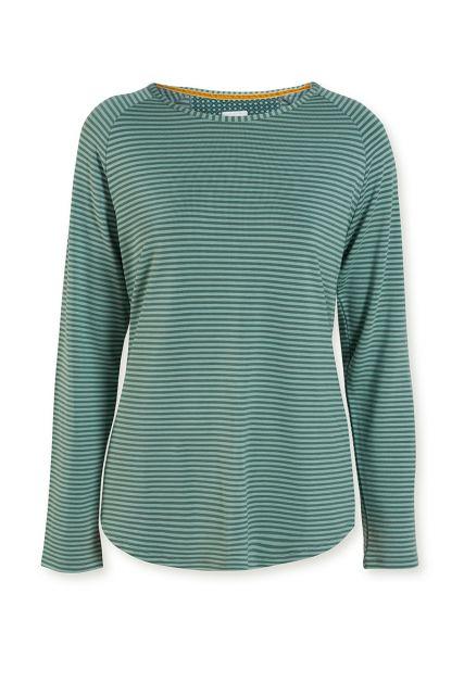 Top-long-sleeve-striped-print-green-tonal-stripe-pip-studio-xs-s-m-l-xl-xxl