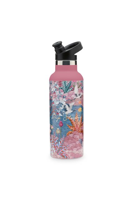 Water-fles-botanische-print-roze-pip-garden-pip-studio-600-ml