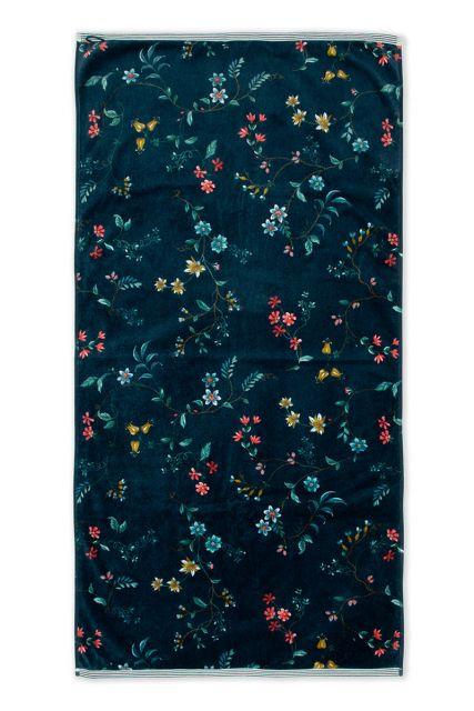 Handtuch-XL-blumen-drucken-dunkel-blau-70x140-cm-pip-studio-les-fleurs-baumwolle