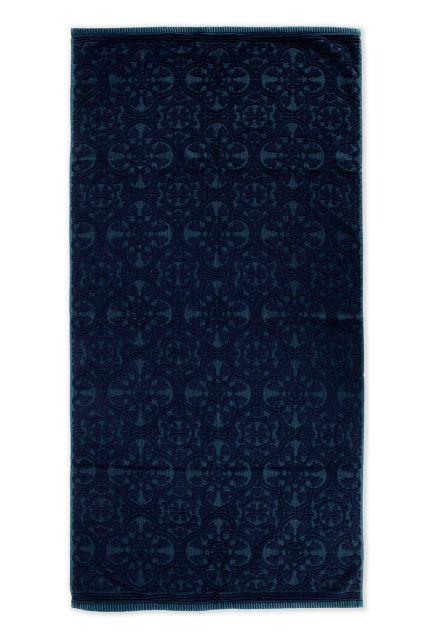 Towel-XL-baroque-print-dark-blue-70x140-pip-studio-tile-de-pip-cotton