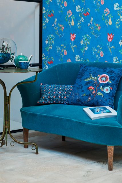Pip Studio Cherry Pip Behang Blauw