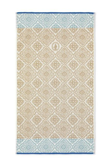 Bath-towel-khaki-55x100-jacquard-check-pip-studio-cotton-terry-velour