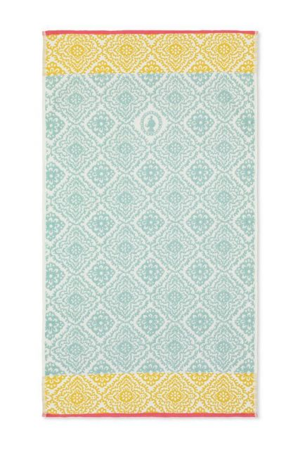 Douchelaken-handdoek-light-blue-55x100-jacquard-check-pip-studio-katoen-terry-velour