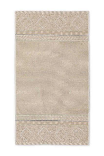 Bath towel Soft Zellige Khaki 55x100 cm