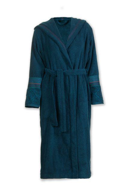 Bathrobe-dark-blue-jacquard-soft-zellige-pip-studio-cotton-terry-velour