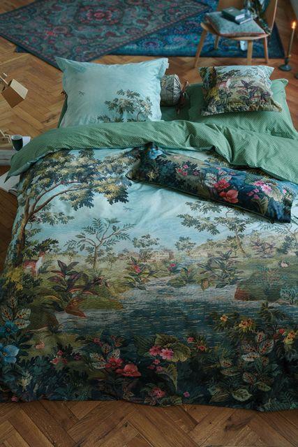 bettbezug-blau-Grün-winter-blooms-pip-studio-2-personen-240x220-140x200-baumwolle
