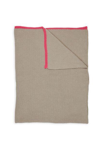 Plaids-khaki-rot-quilts-decke-130x170-throw-bonsoir-pip-studio-gestrickt