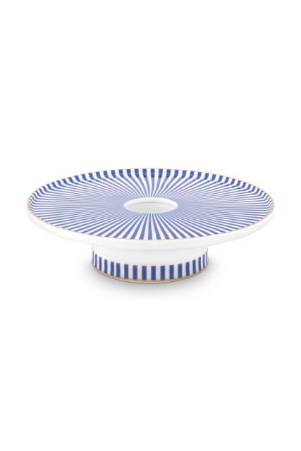 porcelain-candle-tray-blue-white-royal-stripes-collection-pip-studio-14-cm