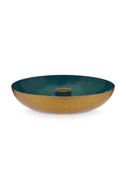 metal-candle-tray-small-dark-green-pip-stduio-16-cm