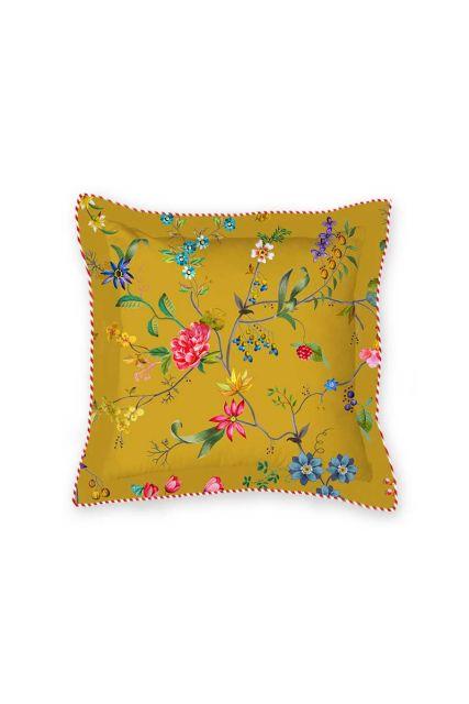 kussen-geel-bloemen-vierkant-sierkussen-petites-fleurs-pip-studio-2-perosonen-45x45-katoen