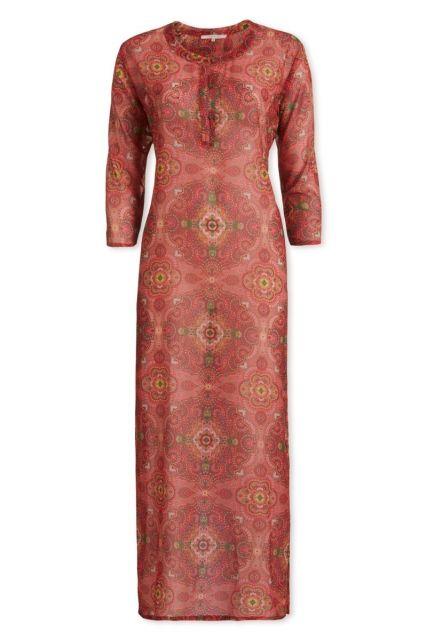 Kleid mit 3/4-Ärmeln Moon Delight Dunkelrosa