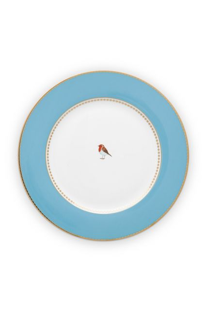 dinner-plate-love-birds-in-blauw-with-bird-26,5-cm