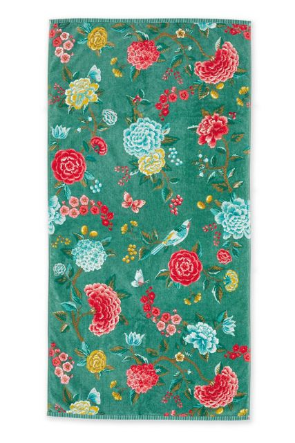 Bath-towel-xl-floral-green-70x140-good-evening-pip-studio-cotton-terry-velour