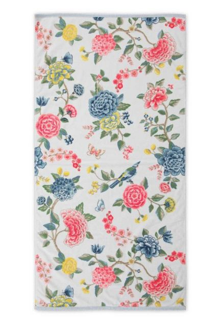 Bath-towel-xl-floral-white-70x140-good-evening-pip-studio-cotton-terry-velour