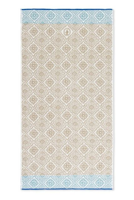 Bath-towel-xl-khaki-bohemian-70x140-jacquard-check-pip-studio-cotton-terry-velour