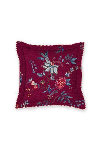 vierkant-sierkussen-flower-festival-donker-rood-bloemen-pip-studio-225496