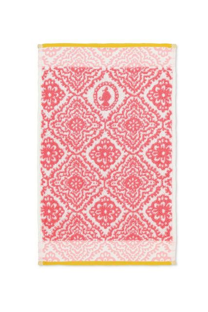 Guest-towel-dark-pink-30x50-jacquard-check-pip-studio-cotton-terry-velour